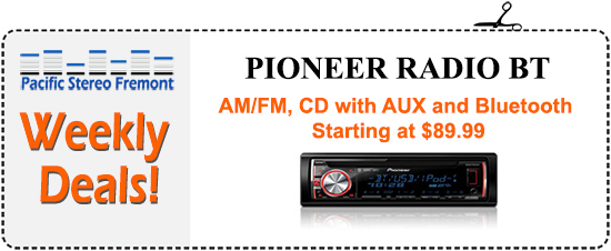 Am/FM, CD with AUX and Bluetooth, starting at $89.99