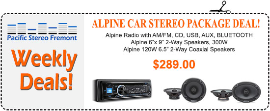 Alpine Car Stereo Package Deal - Radio with AM/FM, CD, USB, AUX, Bluetooth, 2 sets of speakers