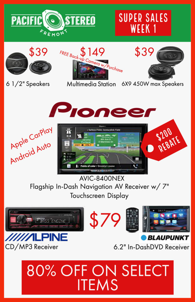 Pioneer, Alpine and Blaupunkt ON SALE!